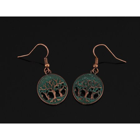 Tree of Life Verdigris Patina Necklace and Earrings Set - image 2 of 4