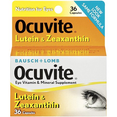 - Ocuvite Lutein Capsules Vitamin & Mineral Supplement 36 ct