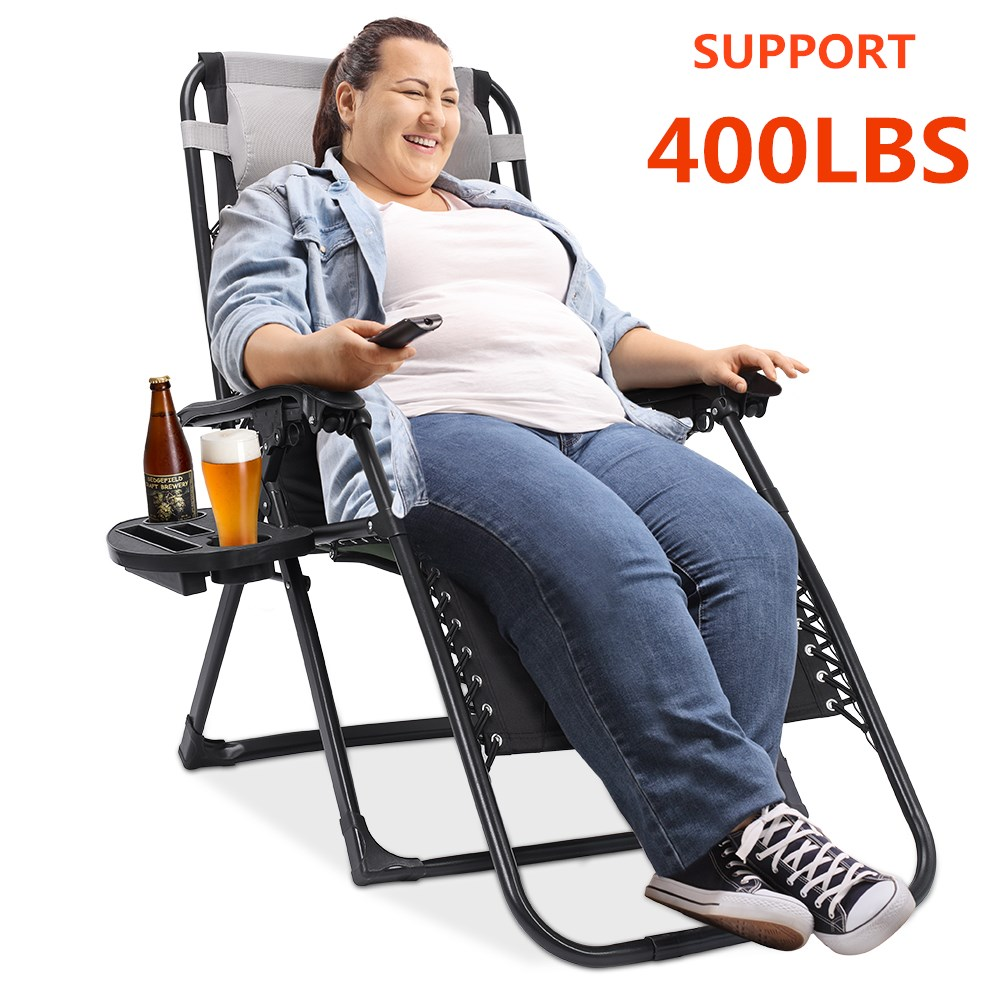 Oversized Zero Gravity Chair Padded Support 400 lbs Heavy ...