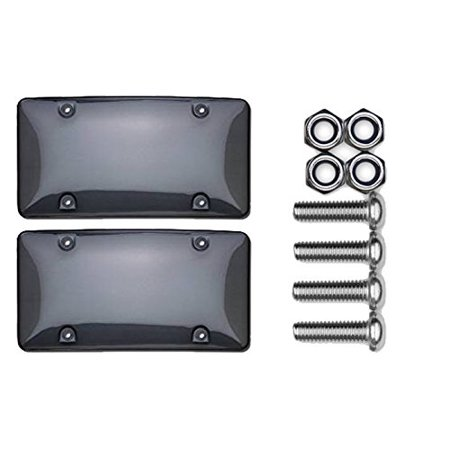 - Smoke License Plate Bubble Shield Bundle with Metric Fasteners for Most Import Cars & Trucks (3 Items), Bundle consists of 3 items: By Cruiser Accessories