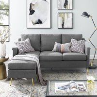 Dwell Home Reversible Apartment Sectional w/Gold Legs