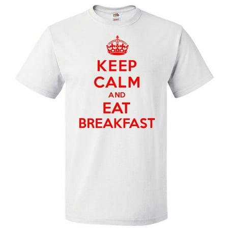 e8c4ddc4d0 ShirtScope - Keep Calm and Eat Breakfast T shirt Funny Tee Gift -  Walmart.com