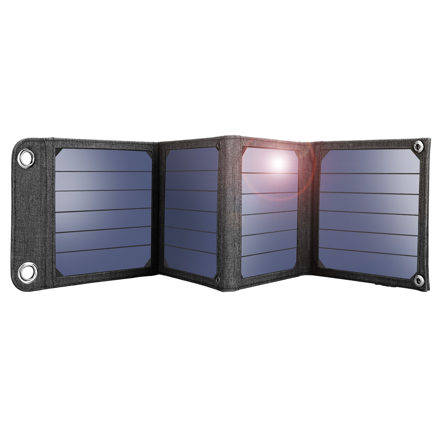 Suaoki 14W Solar Charger with Portable SunPower Solar Panels for Smartphones and Other 5V USB Devices