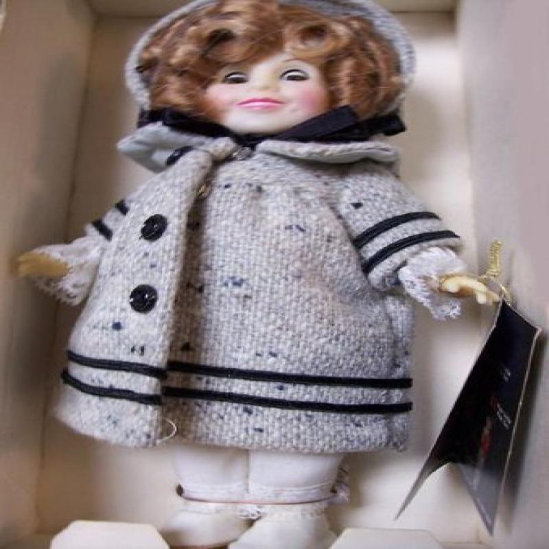 "1983 Ideal Shirley Temple Doll 8"" - Dimples in Coat"