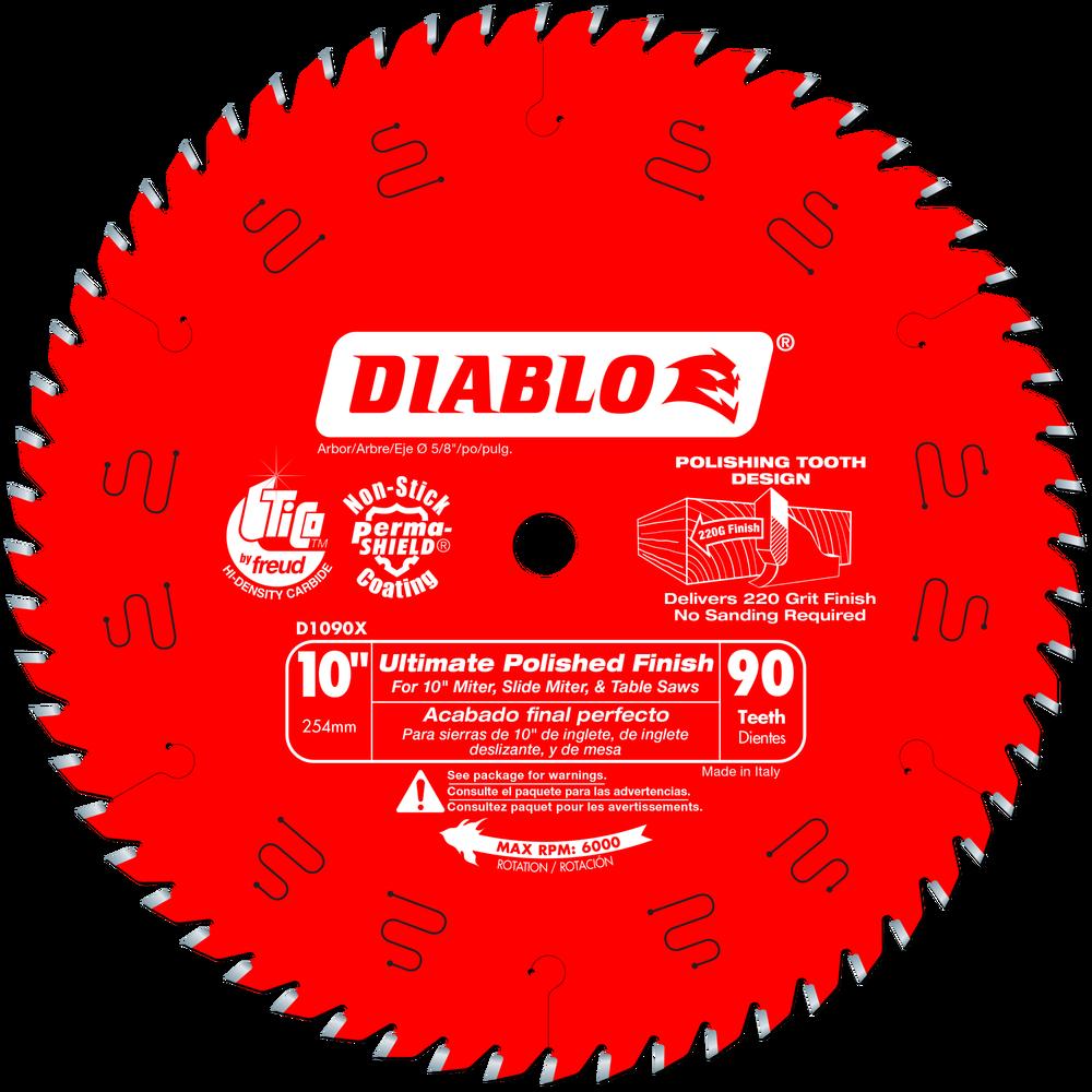 """Diablo D1090X 10"""" 90 TPI Fine Finish Circular Saw Blade by Freud"""