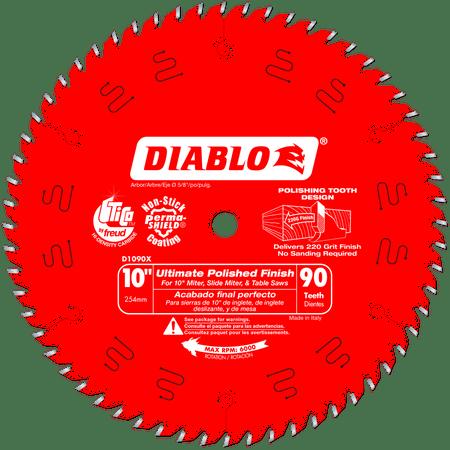 Diablo D1090X 10-Inch 90 Tpi Fine Finish Circular Saw Blade ()