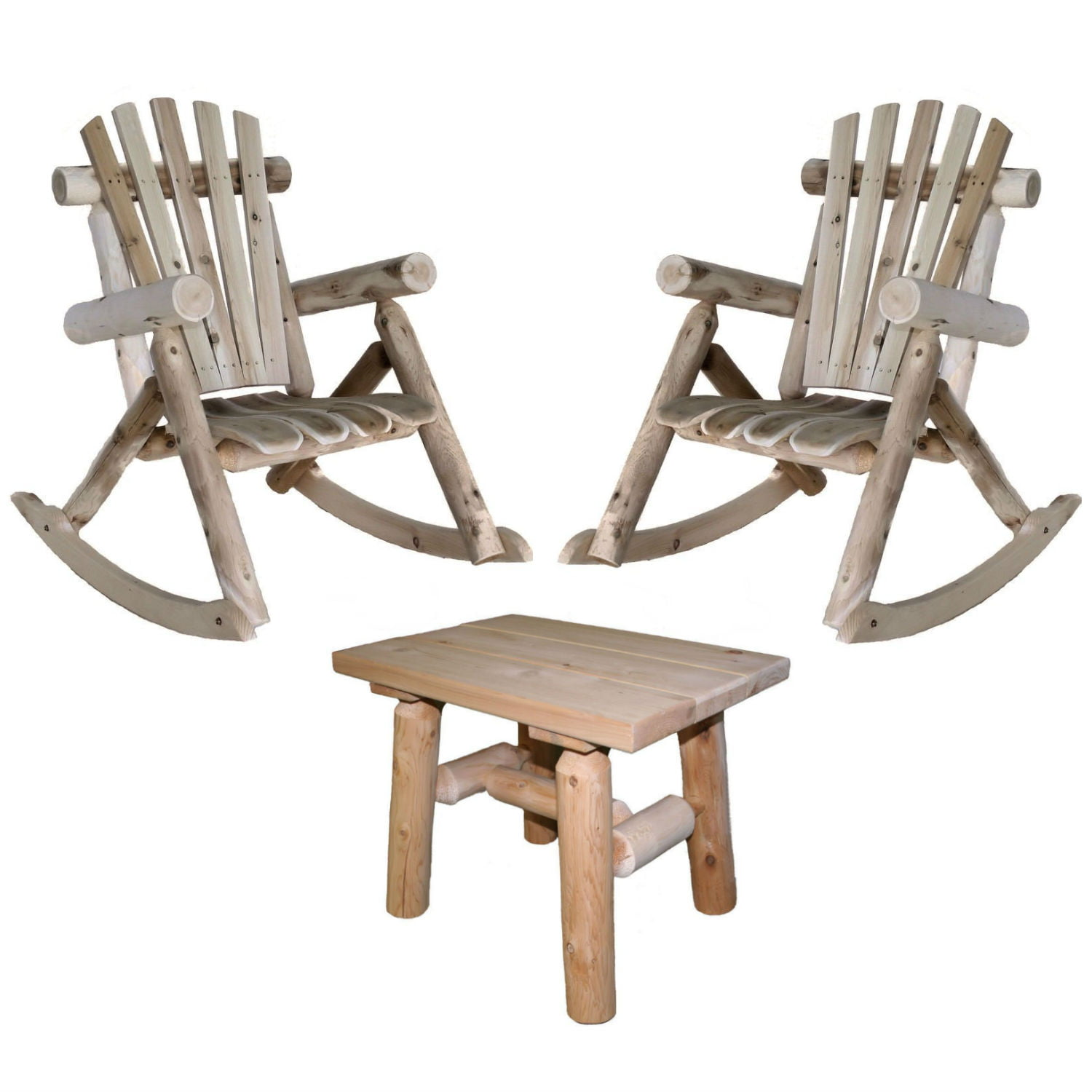 Lakeland Mills Patio Rocking Chair (Set of 2) with End Table by