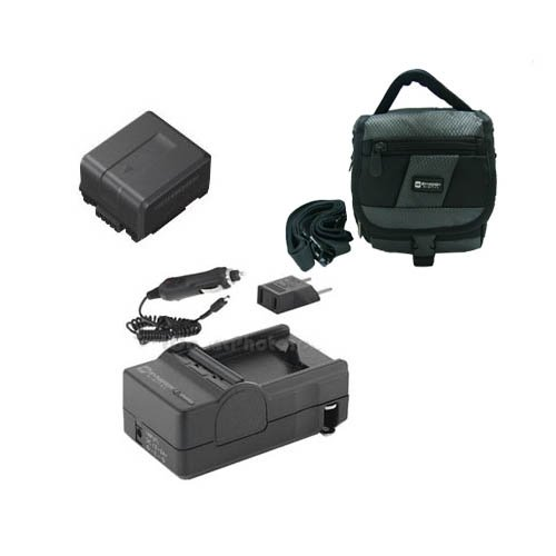 Panasonic HDC-TM700 Camcorder Accessory Kit includes: SDM-130 Charger, SDC-27 Case, SDVWVBG130 Battery
