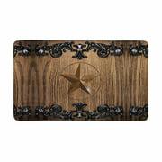 MKHERT Western Texas Star on Vintage Iron Frame On Wooden Wall Doormat Rug Home Decor Floor Mat Bath Mat 30x18 inch