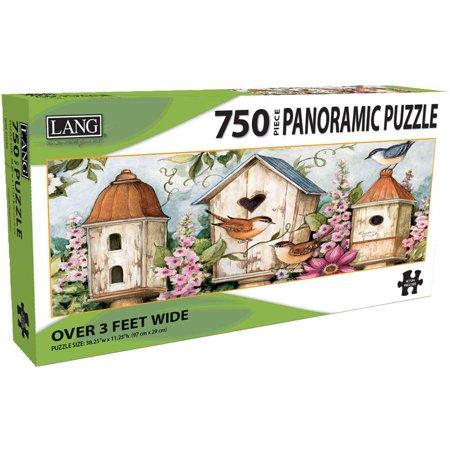 PUZZLE - 750 PC PANORAMIC, BIRDHOUSE GARDEN 750 Piece Panoramic Puzzle