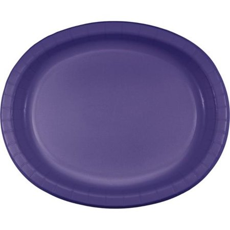 - Group  10 x 12 in. Oval Paper Platters, Purple - 8 per Case - Case of 12