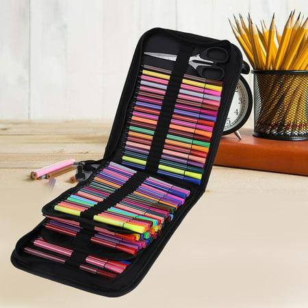 Pencil Case Organizer,Pencil Case,72/120 Slots Large Capacity Water Color Pen Case Pencil Pouch Storage Bag (Color Pencil Cases)