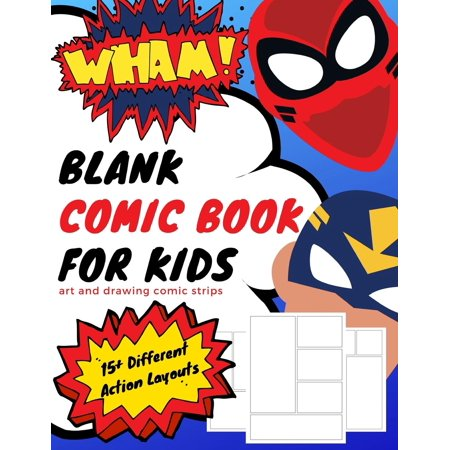 Create Your Own Comic Book: Blank Comic Book for Kids: Art and Drawing Comic Strips (Paperback)