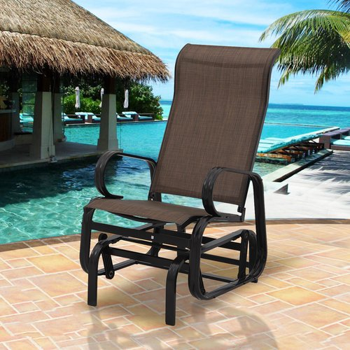 Winston Porter Riaria Patio Garden Rocking Chair