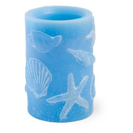 Boston International NHD18386 Shells LED Candle Lg Blue ()