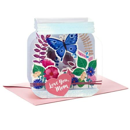 Hallmark Paper Wonder Mothers Day Pop Up Card for Mom (Mason Jar, Love - Halloween Pop Up Cards To Make