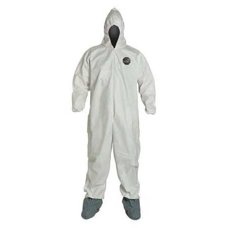 Dupont NG122SWH4X002500 Hooded NexGen(R), White, Boots, 4...