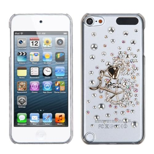 Insten Gold Mountain Bicycle Crystal 3D Diamante Back Case For iPod Touch 6 6th 5 5th Gen