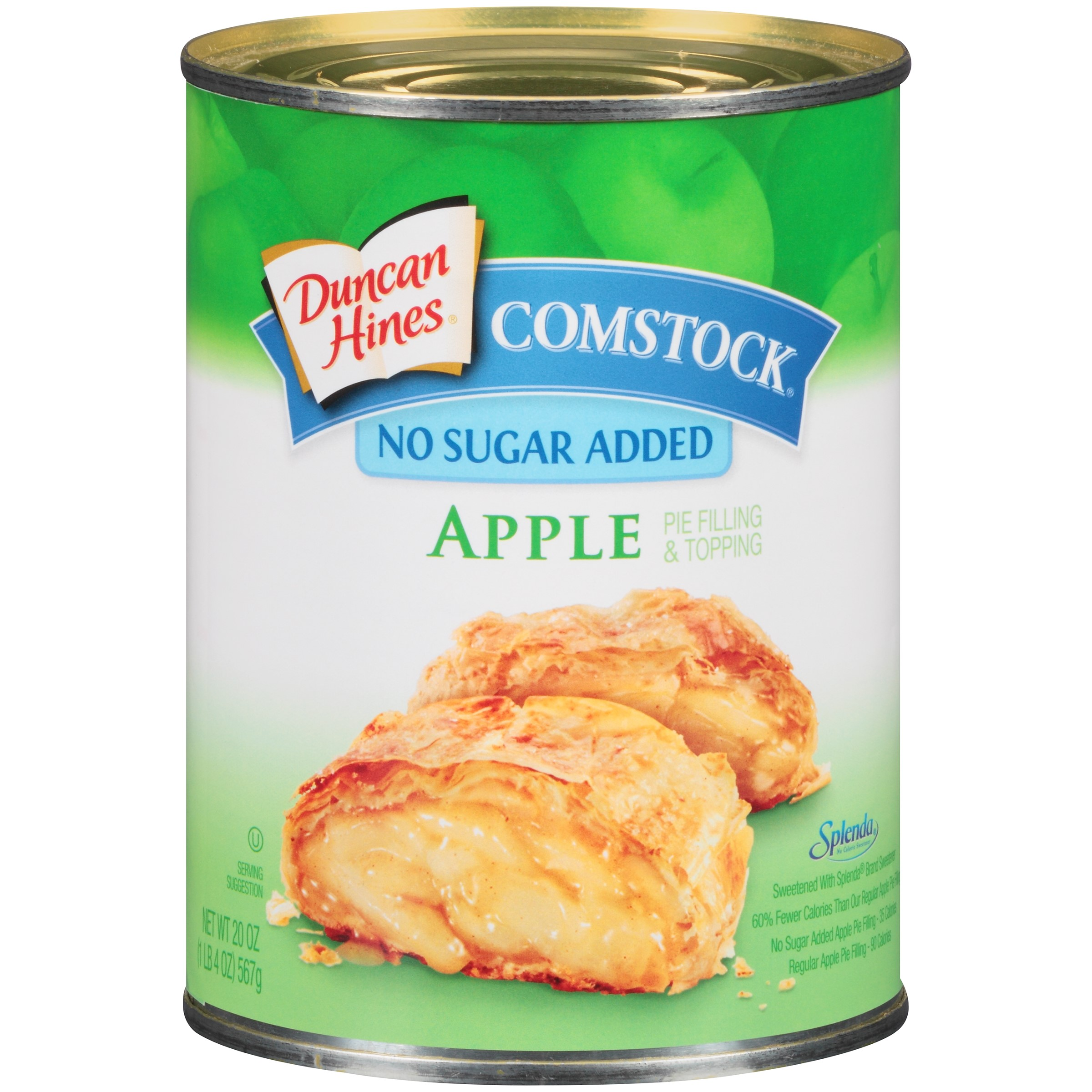 Duncan Hines Comstock No Sugar Added Apple Pie Filling & Topping 20 oz. can by Pinnacle Foods