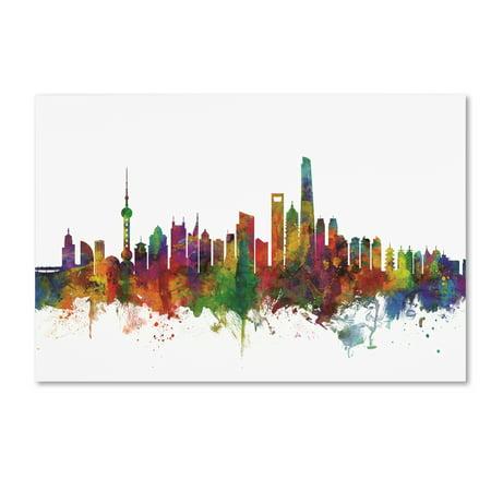 Trademark Fine Art 'Shanghai China Skyline II' Canvas Art by Michael Tompsett (China Fine Art)