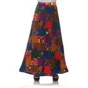 70S Patchwork Womens Adult Disco Costume Accessory Skirt