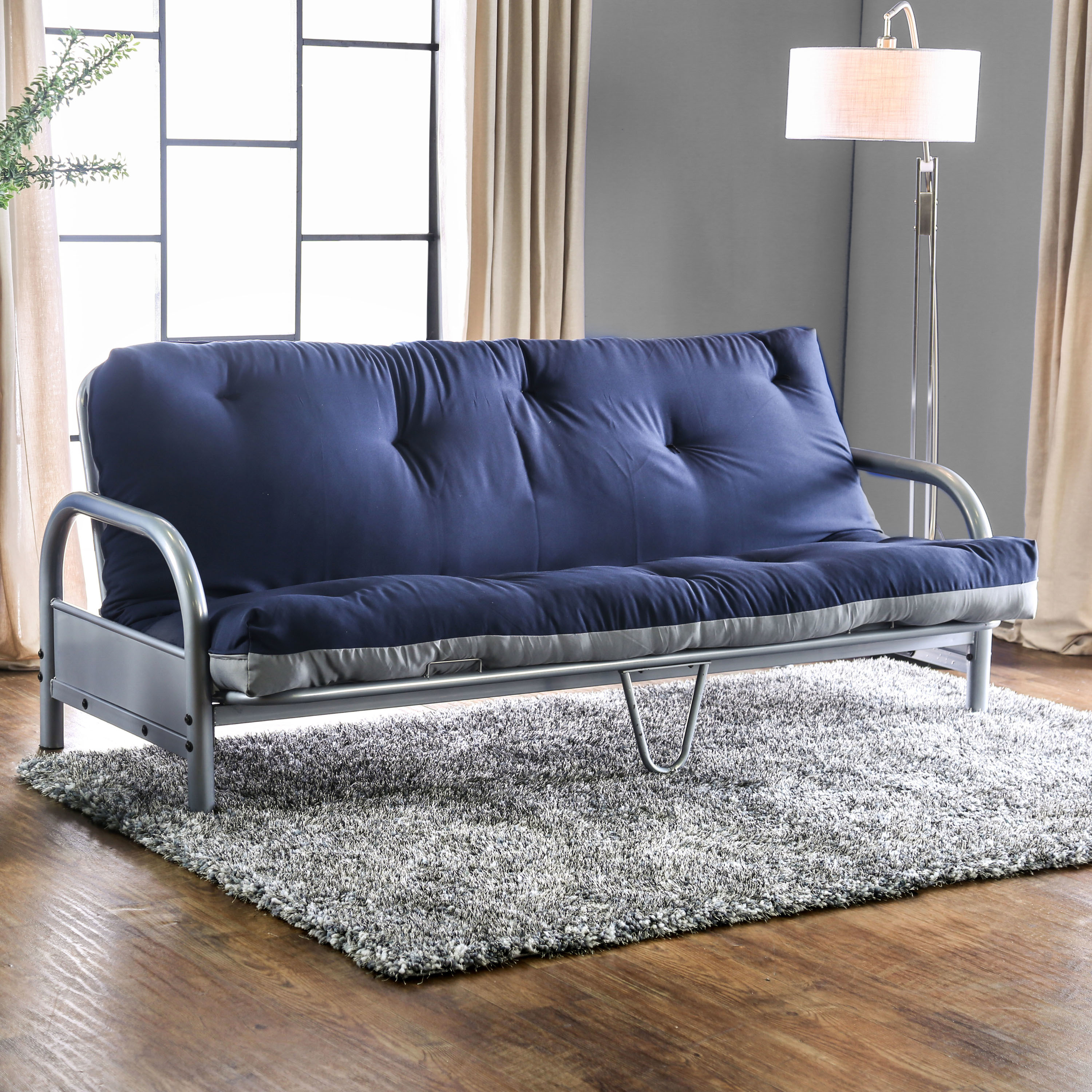 Furniture of America  Elias Contemporary Two-Tone 6-inch Tufted Futon Mattress