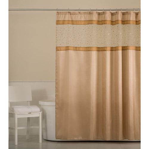 Maytex Buena Vista Fabric Shower Curtain, Natural