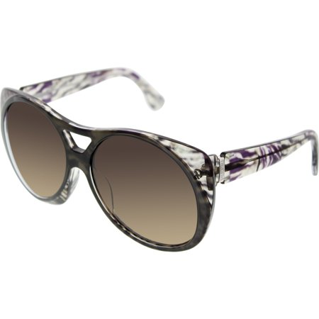 3434df98bb Emilio Pucci Women s EP688S-203-58 15 Black Aviator Sunglasses