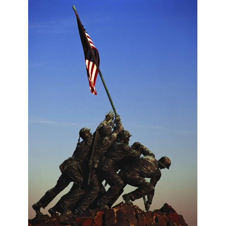 Iwo Jima Memorial, Washington DC, USA Print Wall Art By Walter (Memorial Wall Dc)