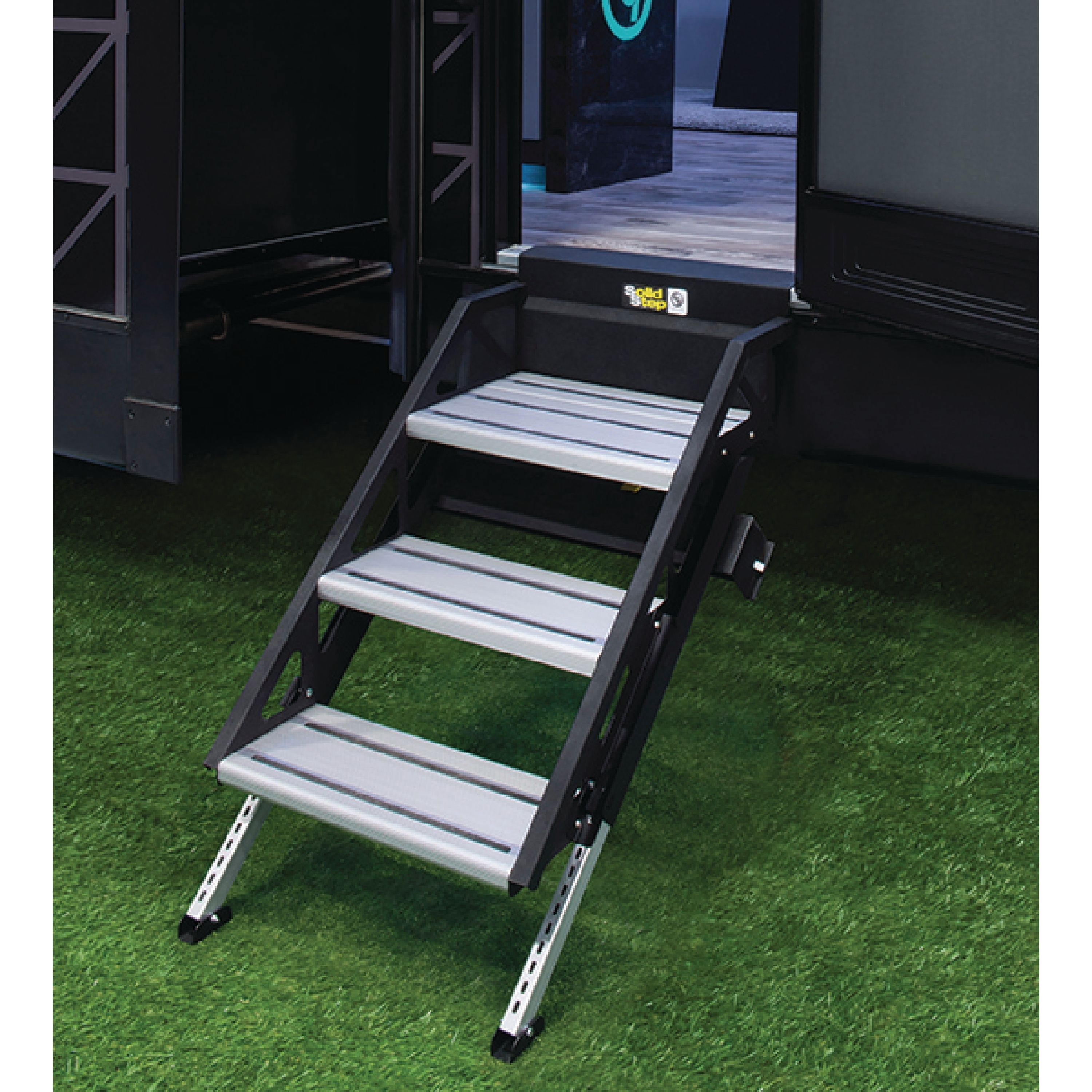 "Lippert 678044 SolidStep Manual Fold-Down Triple 30"" RV Steps"