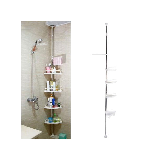 Tbest Bathroom Corner Shelves 4 Tier Adjustable Telescopic Shower Shelf Corner Rack Stainless Steel Vertical Standing Shower Caddy Shelving Unit Storage Organizer For Shampoo Conditioner Soap Walmart Com Walmart Com