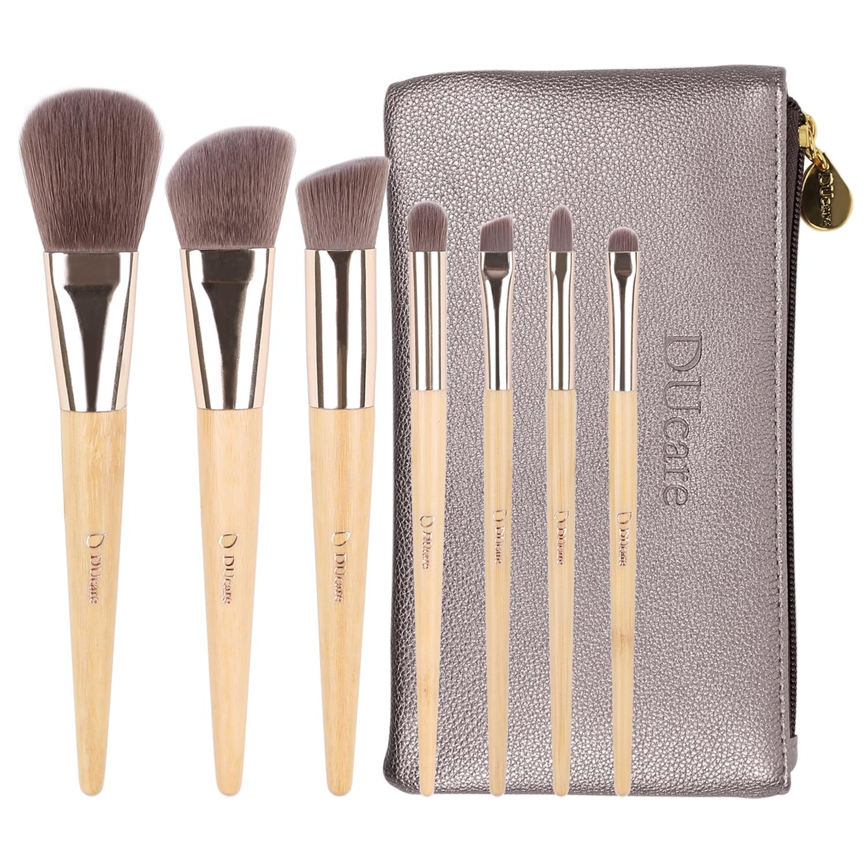 Makeup brushes Kit Set, DUcare 7Pcs Brush with Bag Eco Bamboo Starter