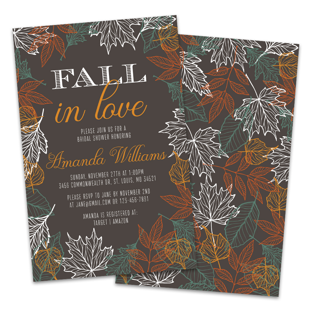 Personalized Fall In Love Bridal Shower
