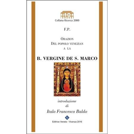 Orazion del popolo venezian a la B. Vergine de San Marco - eBook (Outlet De San Marcos)