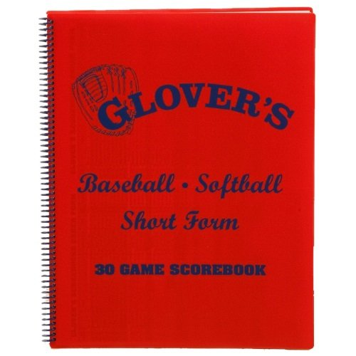 Short Form Baseball Softball Scorebook (30 Games), 30 game orange book that bats up to 15 players By Glovers... by