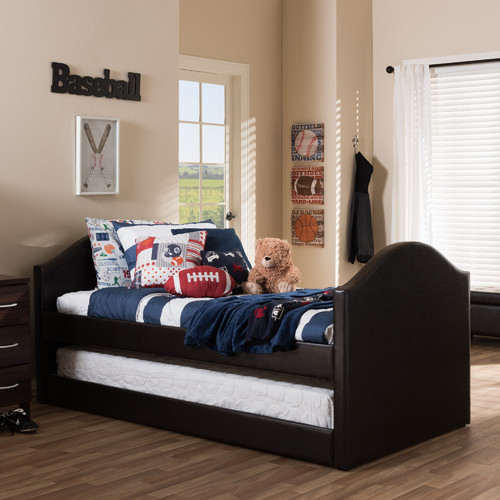 Wholesale Interiors Baxton Studio Twin Bed with Trundle