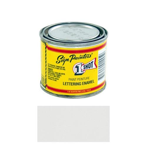 1/4 Pint 1 Shot LETTERING WHITE Paint Lettering Enamel Pinstriping & Graphic Art