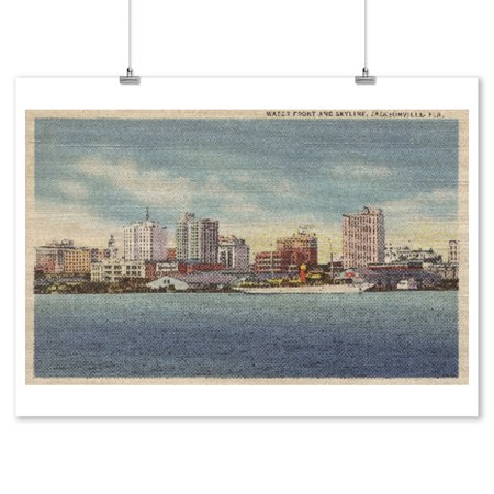 Jacksonville, FL - View of Water Front & Skyline (9x12 Art Print, Wall Decor Travel Poster)](Party Shop Jacksonville Fl)