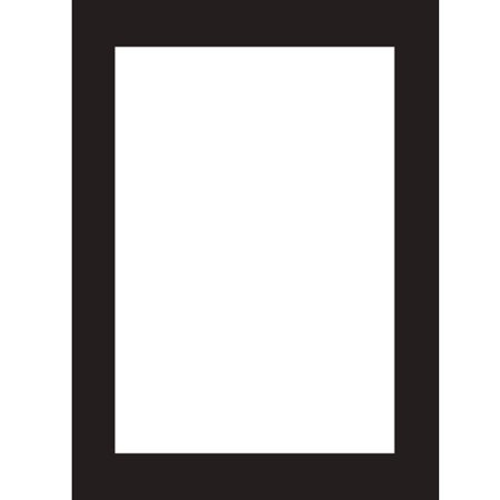 Black and White 4.5 inch X 6 inch Imprintable Invitations (8 ct) (Imprintable Invitations)