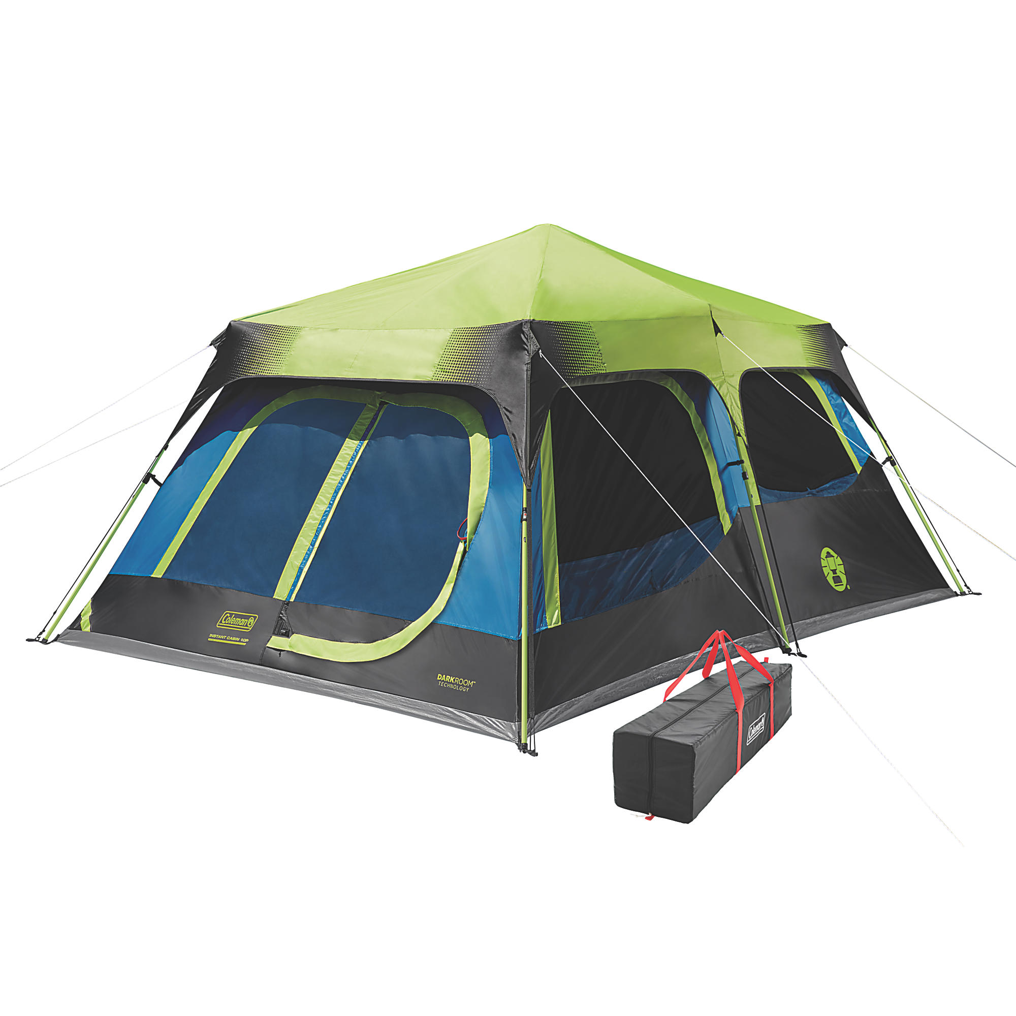 Coleman 10-Person Dark Room Instant Cabin Tent with Rainfly by Newell Brands