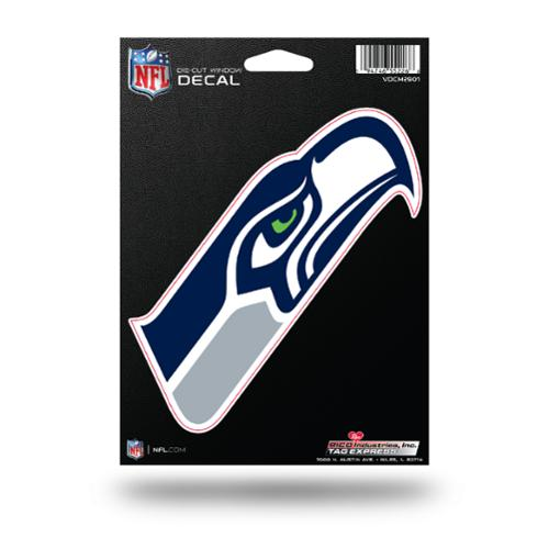Seattle Seahawks Official NFL 5 inch  Die Cut Car Decal by Rico Industries