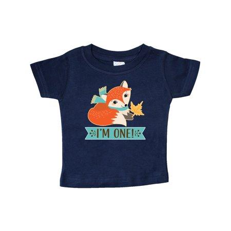 1st Birthday Woodland Fox 1 Year Old Baby T-Shirt