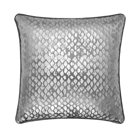 Mainstays Silver Distressed Foil Metallic Throw Pillow - Metallic Silver Audio
