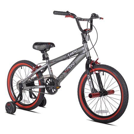 "Kent 18"" Abyss FS18 BMX Boy's Bike, Silver, For Height Sizes 3'8"" and Up"