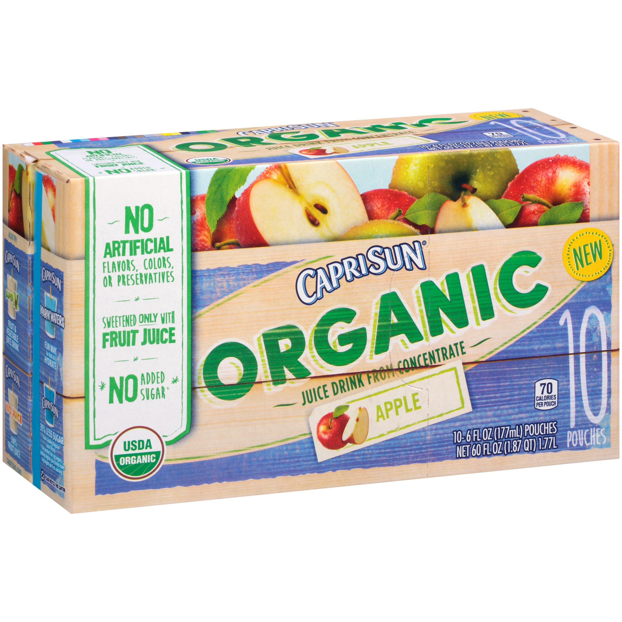Capri Sun Organic Apple Juice Drink, 10   6 oz pouches by Kraft Heinz Foods Company