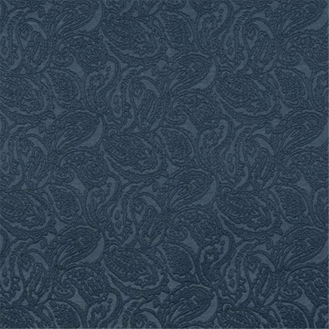 Designer Fabrics E574 54 in. Wide Blue, Paisley Jacquard Woven Upholstery Grade Fabric