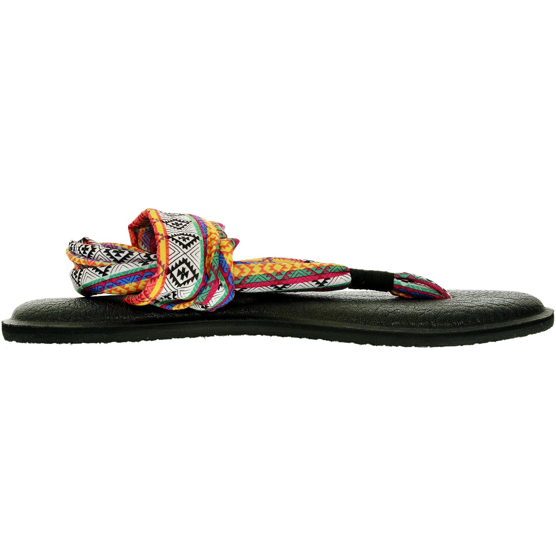 NEW Sanuk Women Yoga Sling 2 Prints Magenta//Multi Tribal Stripe size 6