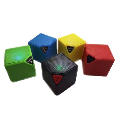 Bluetooth Portable Mini Qube Speaker High Quality with MP3 player LED