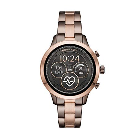 Michael Kors Women's Access Runway Stainless Steel Plated Touchscreen Watch with Strap, GoldToned, 18 (Model: (Michael Kors Model Number)