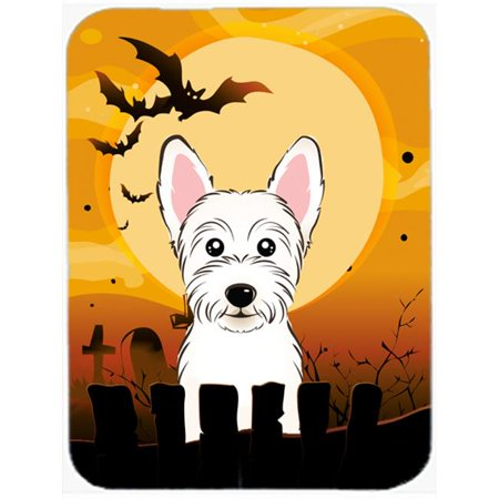Carolines Treasures BB1784LCB Halloween Westie Glass Cutting Board, Large - image 1 of 1